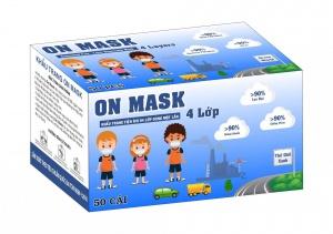 Khẩu Trang On Mask 4 Lớp Màu Đen